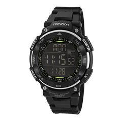 Armitron® Mens Black Digital Sport Watch