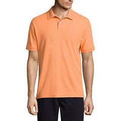St. John's Bay Short Sleeve Solid Performance Pique Polo Shirt