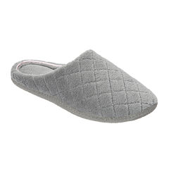 Dearfoams® Microfiber Terry Quilted Clog Slippers