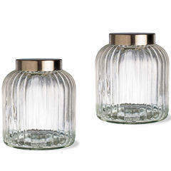 Tag Vintage 2-pc. Medium Glass Canister Set