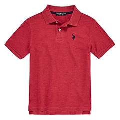 U.S. Polo Assn. Short Sleeve Pique Polo Shirt - Big Kid Boys