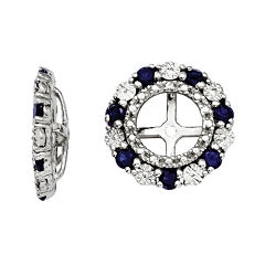 Lab-Created Blue Sapphire Sterling Silver Earring Jackets