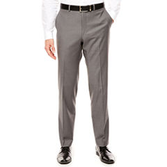 Men's J.Ferrar Stretch Gray Sharkskin Slim-Fit Pants