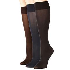 Mixit 3pk Flat Knit Trouser Socks