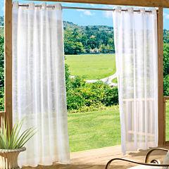 Escape Solid Grommet-Top Outdoor Curtain Panel