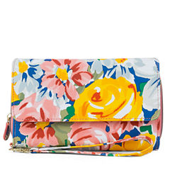 Mundi Big Fat Warm Sun Floral Checkbook Wallet