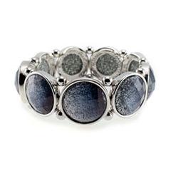 Studio By Carol Womens Black Stretch Bracelet
