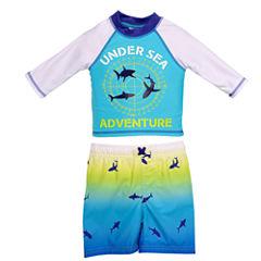 Under Sea Adventure Rash Guard Set - Toddler