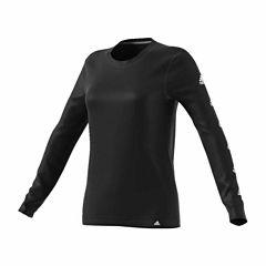 adidas Long Sleeve Crew Neck T-Shirt-Womens