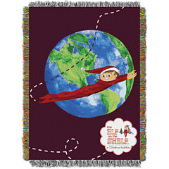 Elf On The Shelf Tapestry Throw