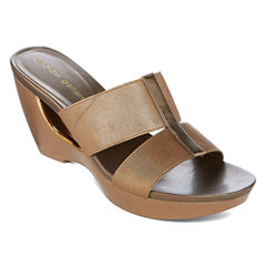 Andrew Geller Abradie Womens Wedge Sandals