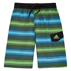 Adidas Boys Energy Stripe Swim Trunks-Big Kid