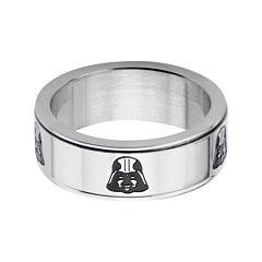 Star Wars® Stainless Steel Darth Vader Spinner Ring