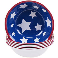 Certified International Stars & Stripes Set of 6 Melamine All-Purpose Bowls