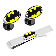 Batman™ Logo Tie Bar & Cuff Links Gift Set