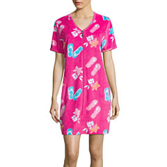 Jasmine Rose  Short Sleeve Pique Robe