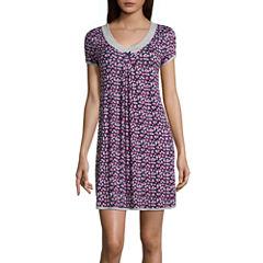Rene Rofe Jersey Short Sleeve Pattern Nightshirt