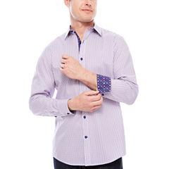 Claiborne Long Sleeve Paisley Button-Front Shirt