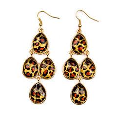 Decree® Animal Print Chandelier Earrings