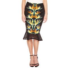 Bisou Bisou Flutter Peplum Pencil Skirt
