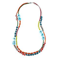 Aris by Treska Multi-Row Pendant Necklace