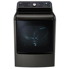 LG 9.0 cu.ft. Mega Capacity TurboSteam® Dryer with EasyLoad™ Door