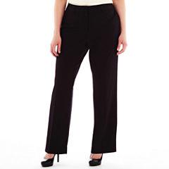 Liz Claiborne® Classic Sophie Secretly Slender™ Trouser Leg Pants - Plus Short
