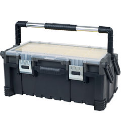 Stalwart Parts and Crafts 22-inch Tiered Storage Tool Box