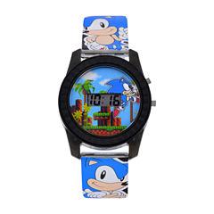 Sonic the Hedgehog Boys Blue Strap Watch-Snc4008jc