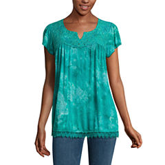 One World Apparel Short Sleeve Scoop Neck T-Shirt-Womens