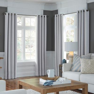 jcpenney home velvet grommettop blackout lined curtain panel