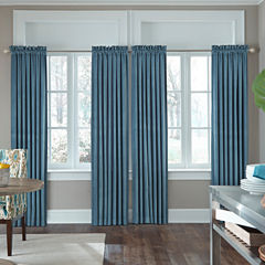 JCPenney Home Made-To-Length Velvet Rod-Pocket Poly-Cotton Lined Curtain Panel