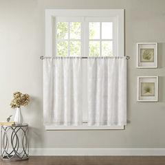 Madison Park Kida Grommet-Top Kitchen Curtains Rod-Pocket Window Tiers
