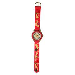 Olivia Pratt Cat Time-Teacher Unisex Pink Strap Watch-Kttn101b