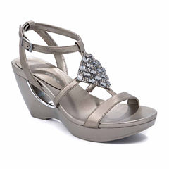Andrew Geller Alexandra Womens Wedge Sandals