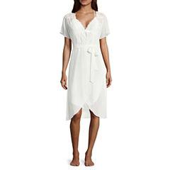 Ambrielle Short Sleeve Chiffon Robe