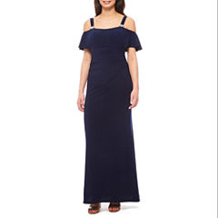 Jackie Jon Cold Shoulder Evening Gown