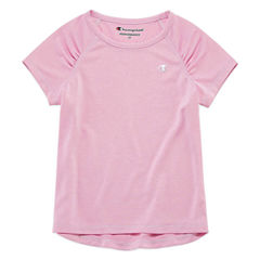 Champion Short Sleeve Crew Neck T-Shirt-Toddler Girls