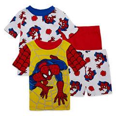 4-pc. Spiderman Pajama Set Boys