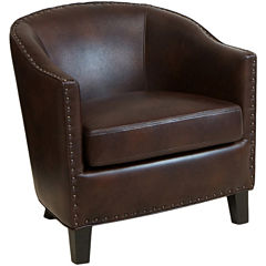 Austin Bonded Leather Club Chair