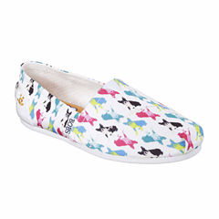 Skechers Bobs Double Vision Womens Slip-On Shoes