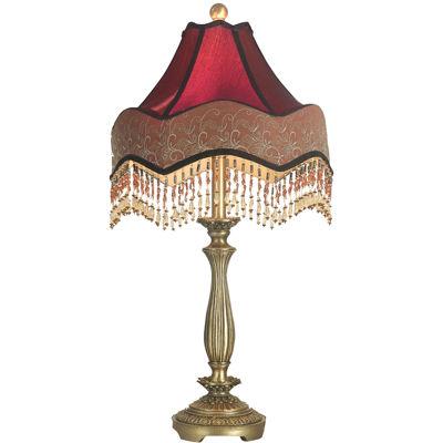 Nice Dale Tiffany™ Beaded Ruby Table Lamp