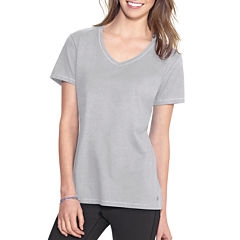 Champion® Jersey Short-Sleeve V-Neck Tee