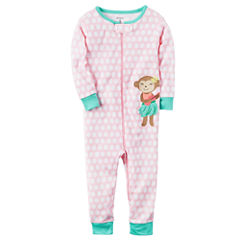 Carter's Short Sleeve One Piece Pajama-Baby Girls