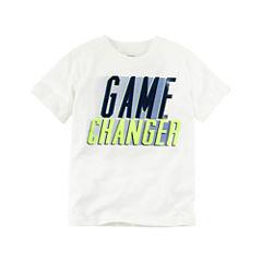 Carter's Short Sleeve Crew Neck T-Shirt-Preschool Boys