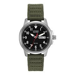 Citizen® Eco-Drive® Mens Military Green Watch BM8180-03E