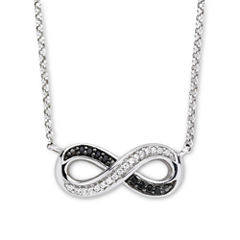 Infinite Promise 1/10 CT. T.W. White & Color-Enhanced Black Diamond Necklace