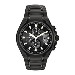 Citizen® Eco-Drive® Mens Black Titanium Chronograph Watch CA0265-59E