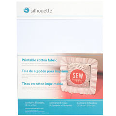 Silhouette® 8-pk. Printable Cotton Fabric Sheets