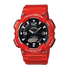 Casio® Tough Solar Sport Mens Red Multifunction Watch AQ-S810WC-4A